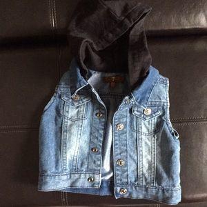 Jean Vest with hood